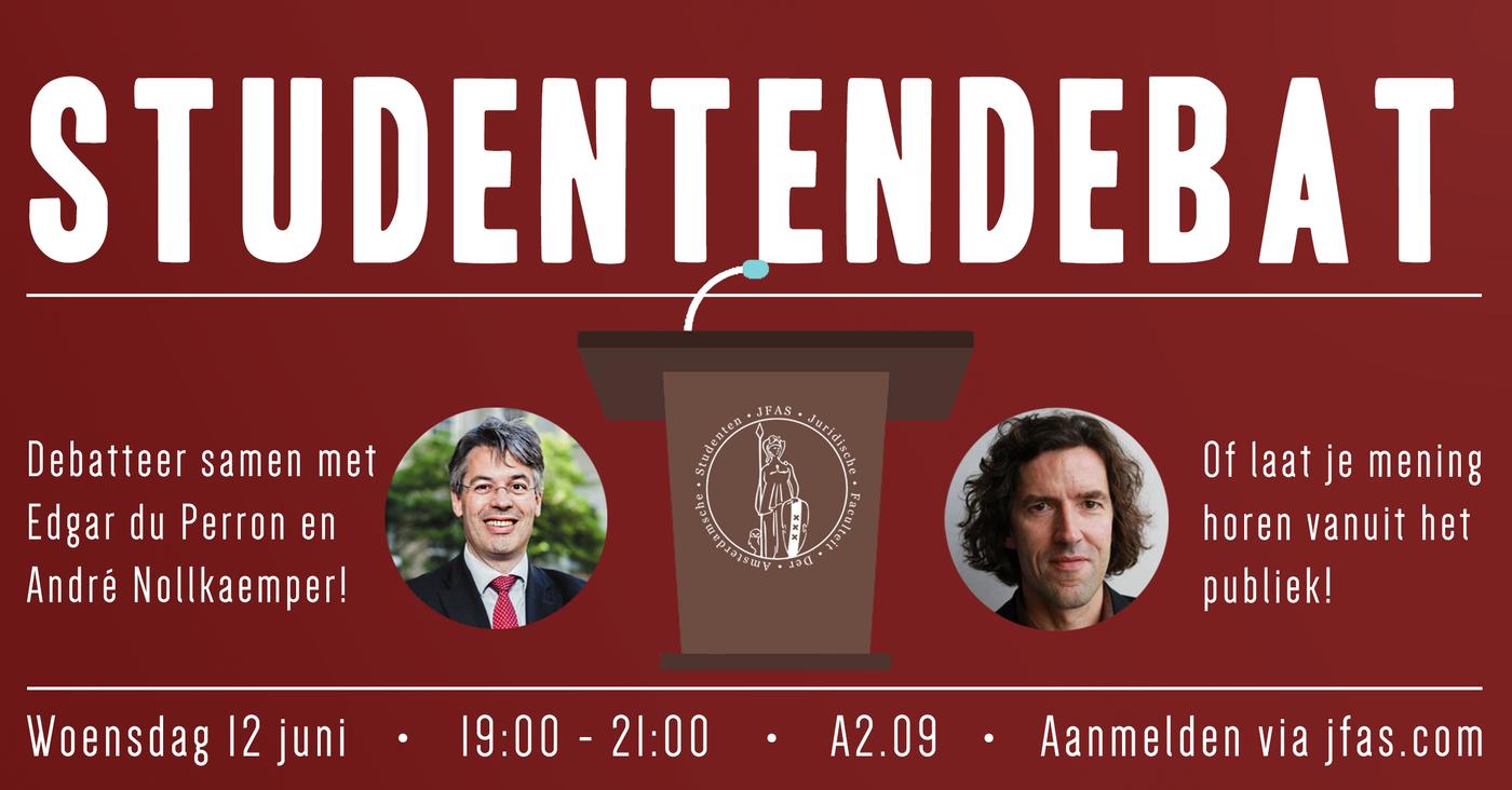 JFAS Studentendebat met André Nollkaemper en Edgar du Perron