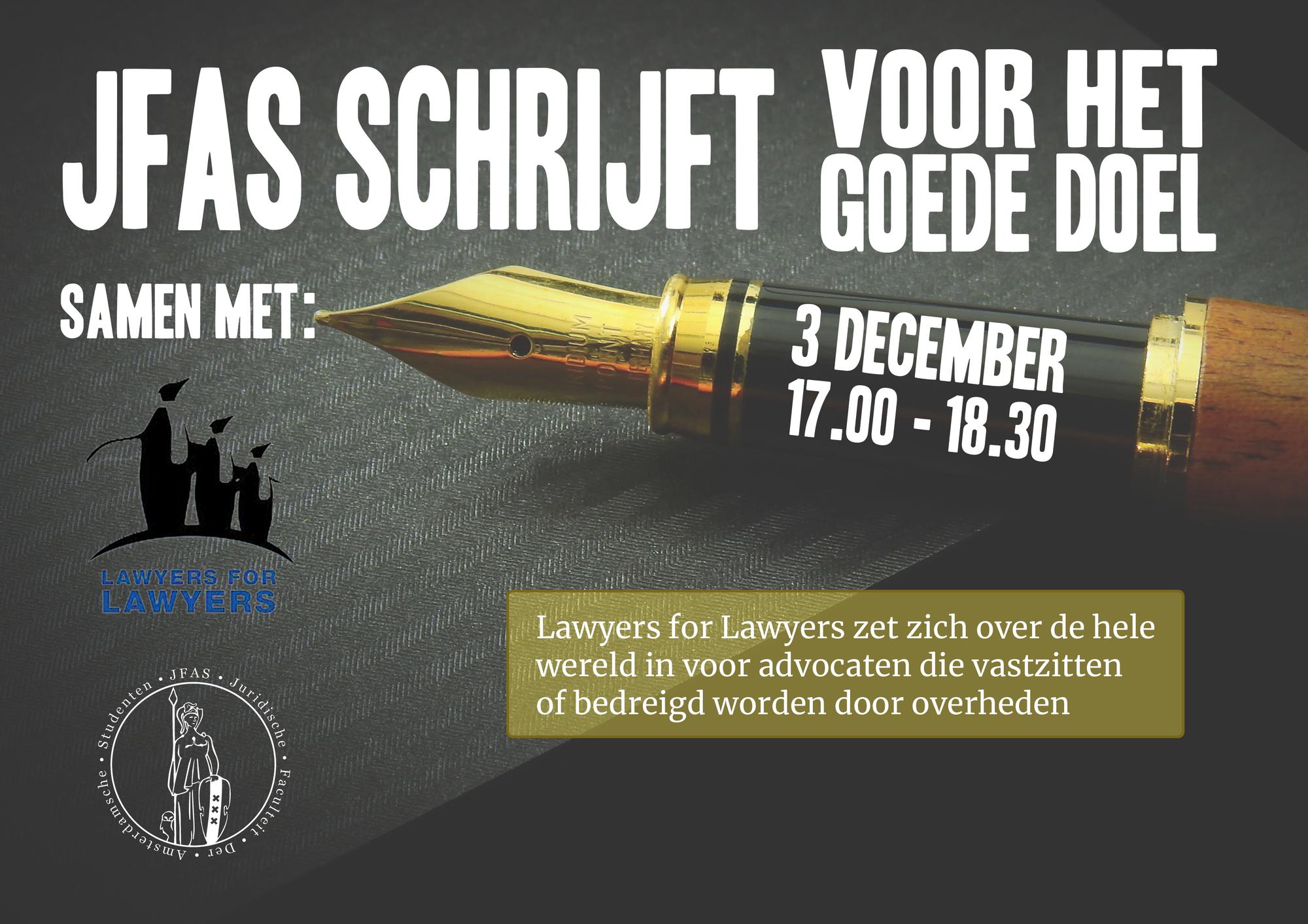 JFAS schrijft voor Lawyers for Lawyers