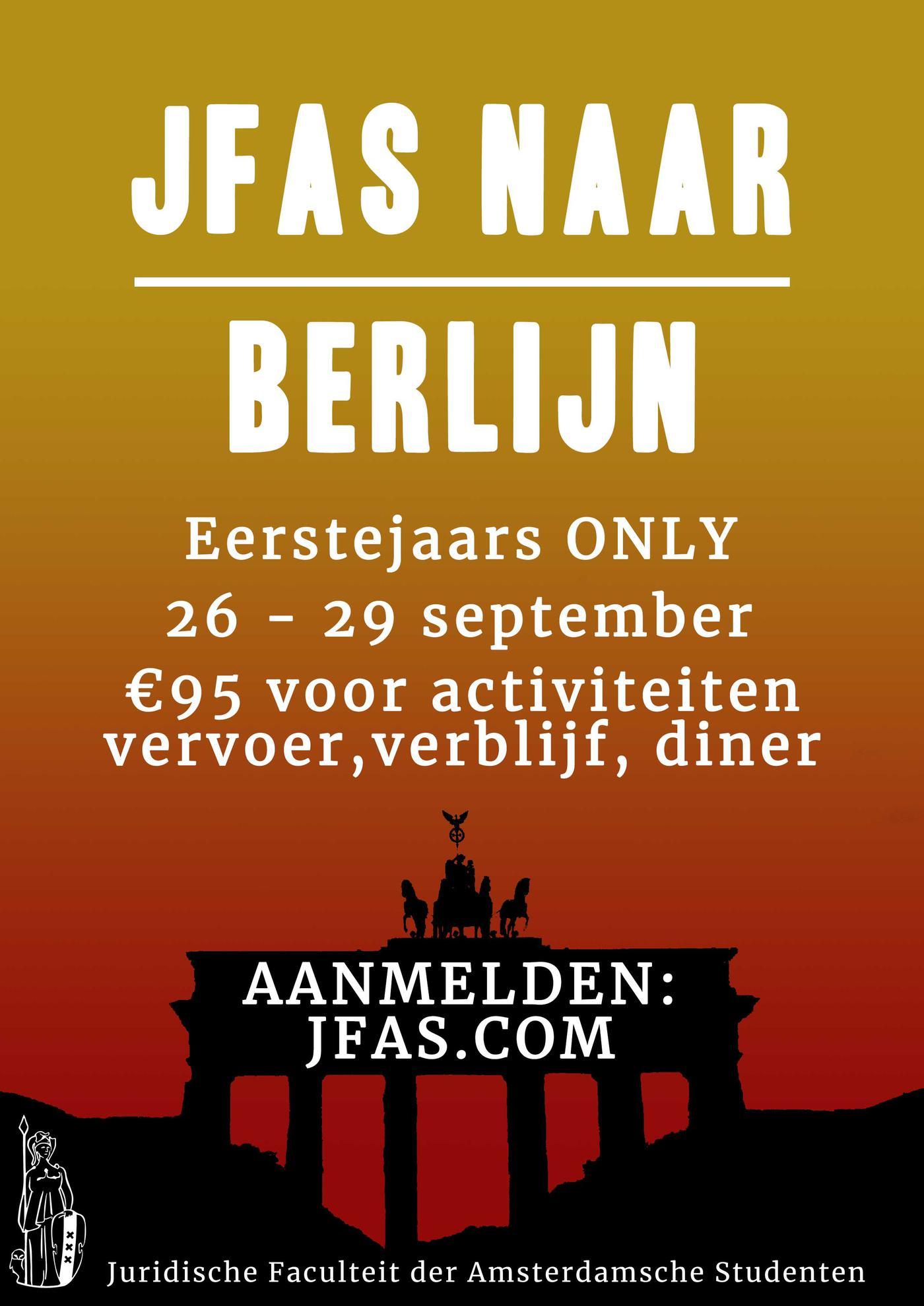 JFAS naar Berlijn