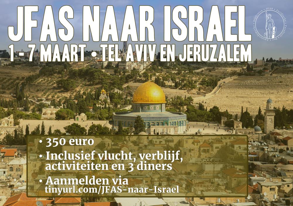 JFAS gaat naar Israël!