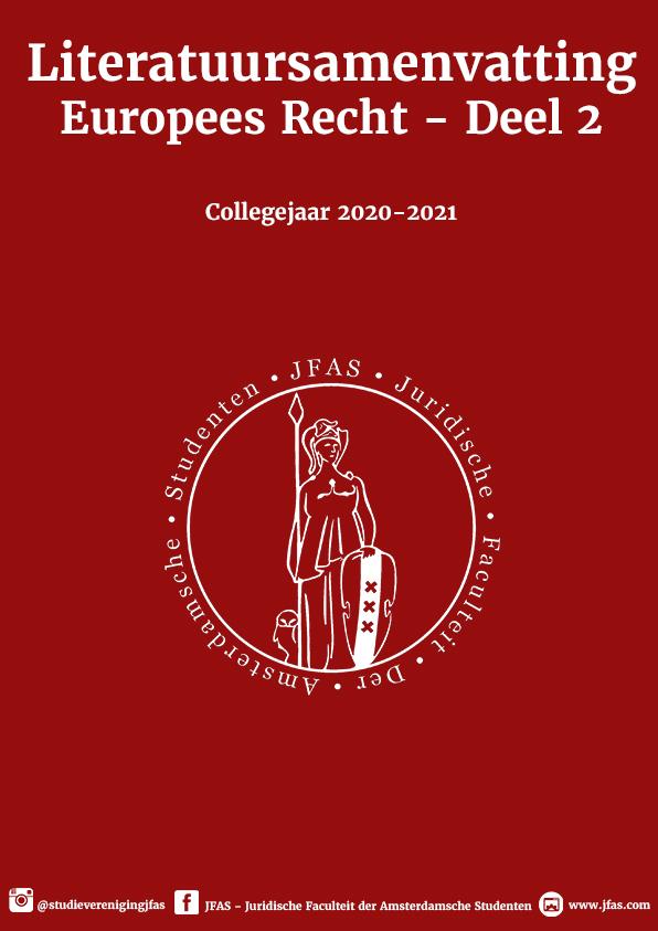 Literatuursamenvatting Europees Recht - Deel 2