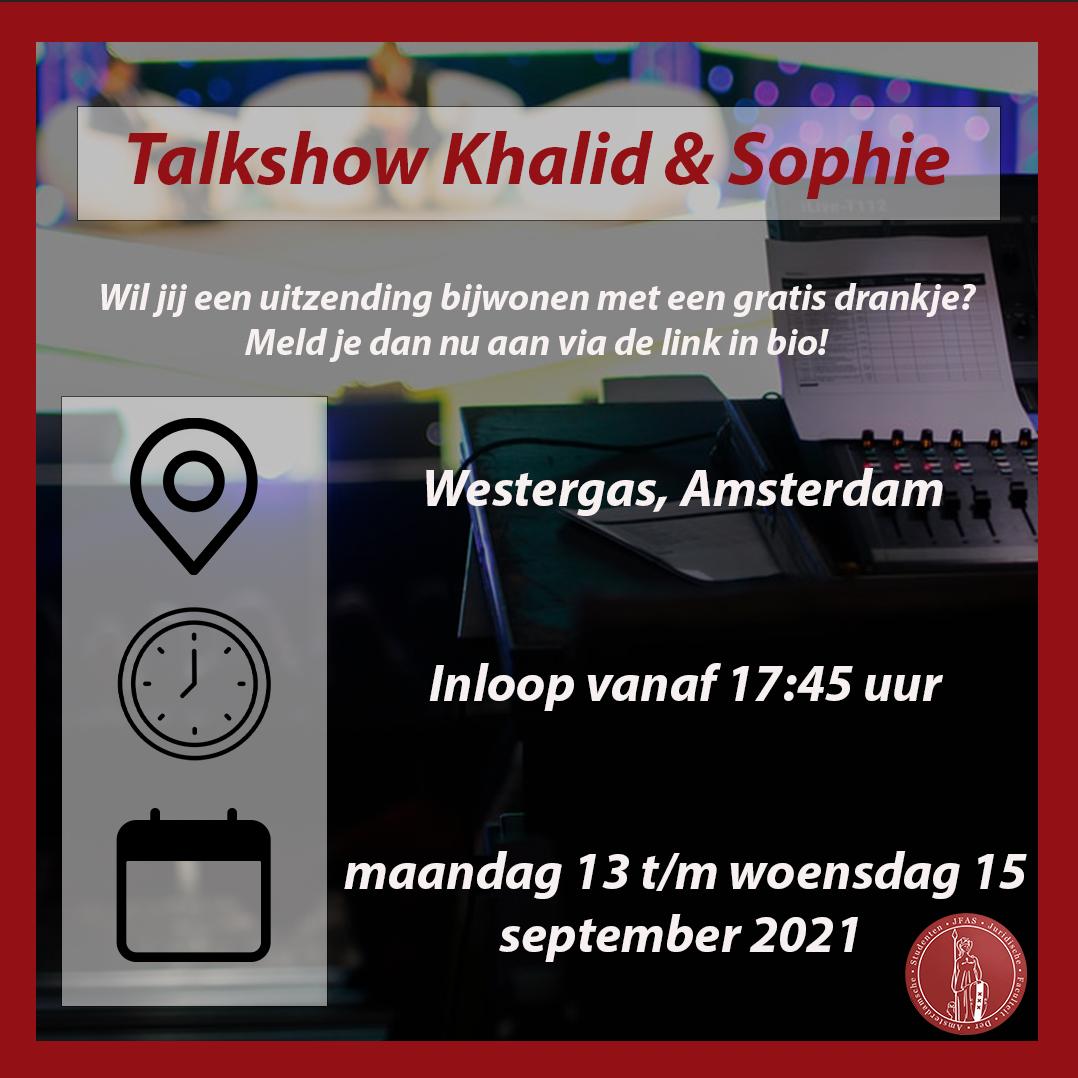 Talkshow Khalid & Sophie