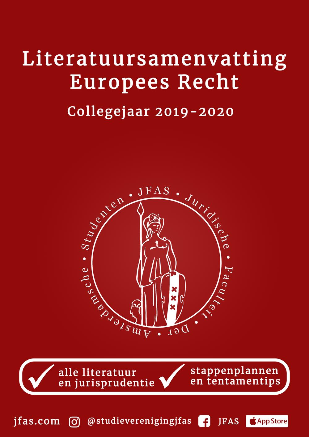 Samenvatting Europees Recht - deel I