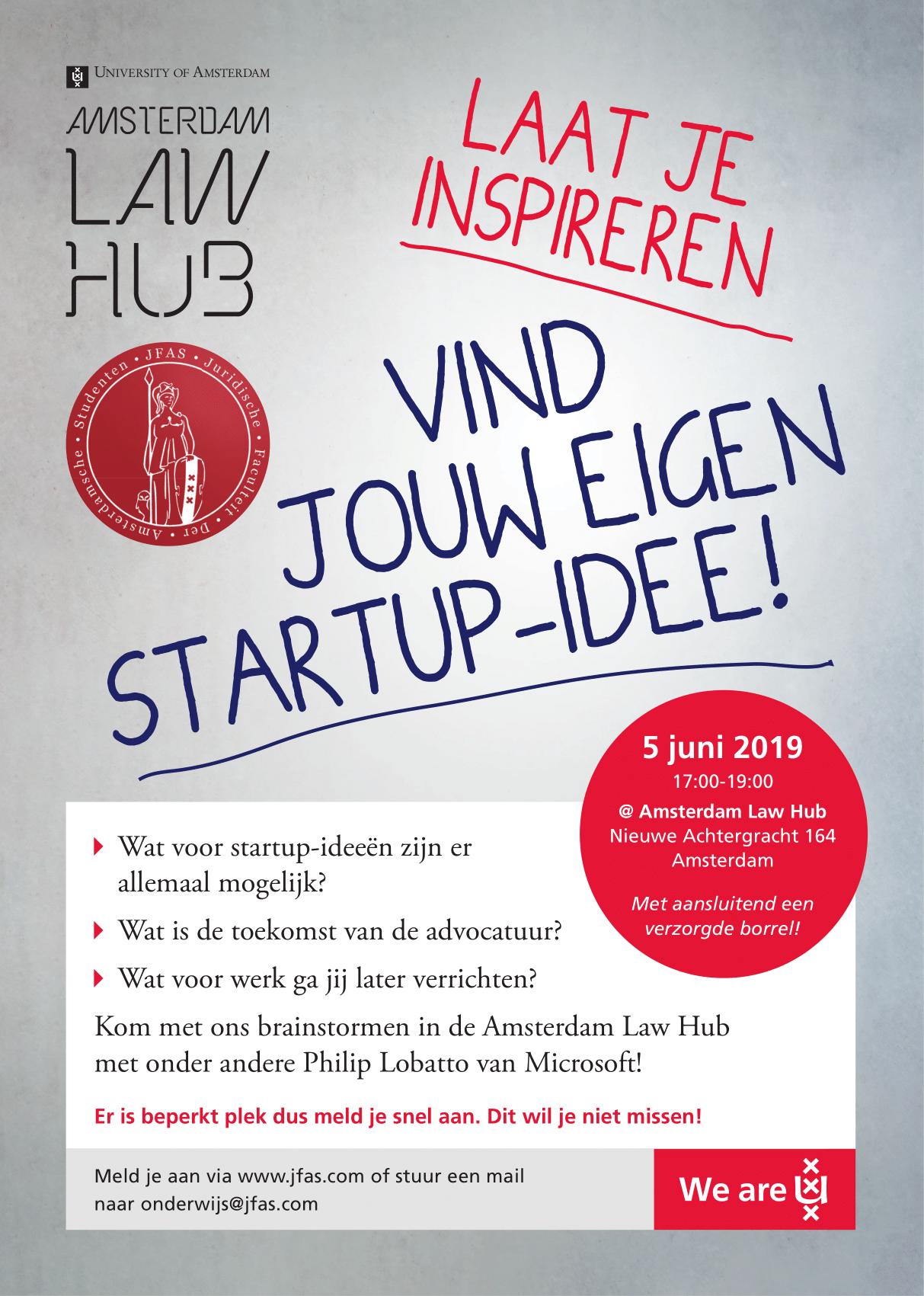 Amsterdam Law Hub x JFAS Brainstormsessie