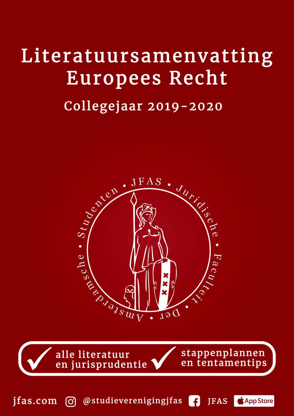 Samenvatting Europees Recht