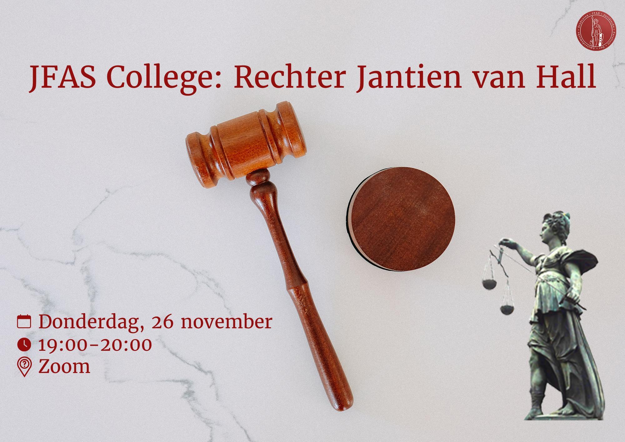 College Rechter Jantien van Hall