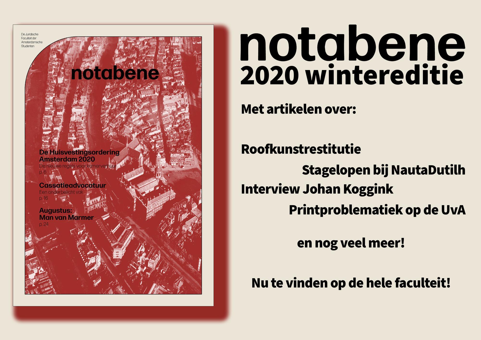De nieuwe Nota Bene is er!