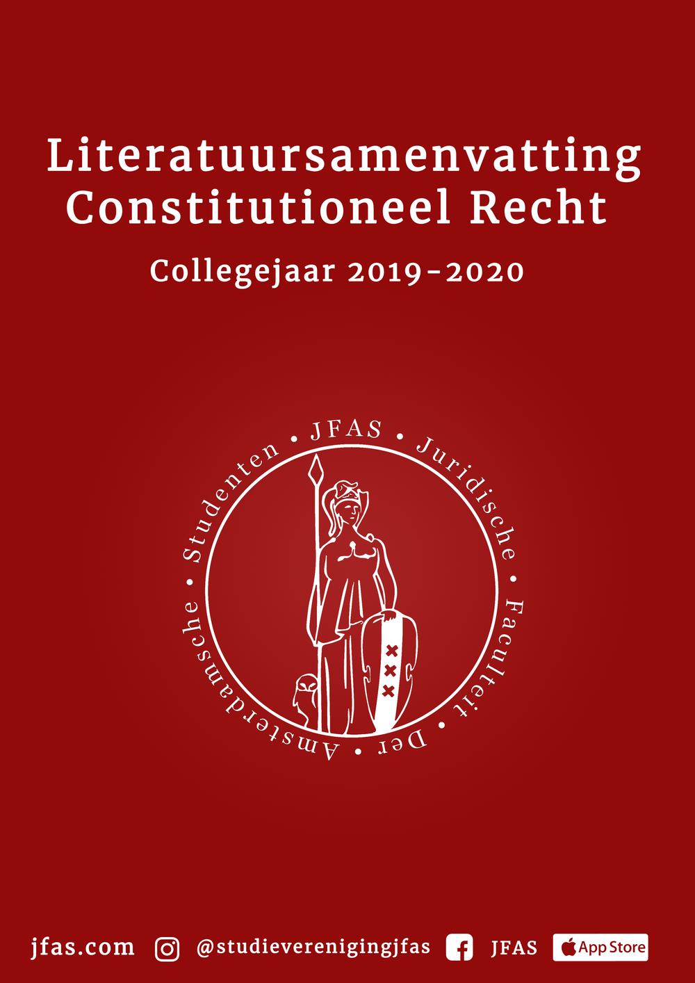 Samenvatting Consitutioneel Recht